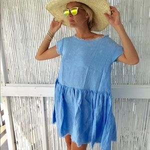 LJC Designs the pale blue beach dress